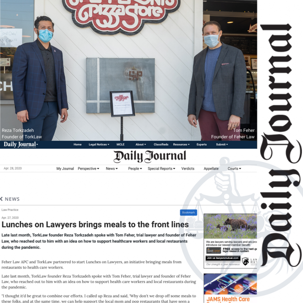 Lunches on Lawyers Featured in The Daily Journal